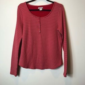 Lucky Brand Red Striped Henley